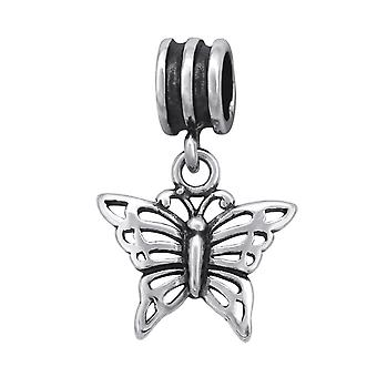Butterfly - 925 Sterling Silver Plain Beads - W28917x