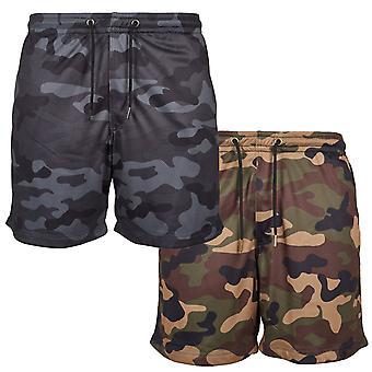 Urban Classics - MESH Sport Fitness Sommer Army Shorts