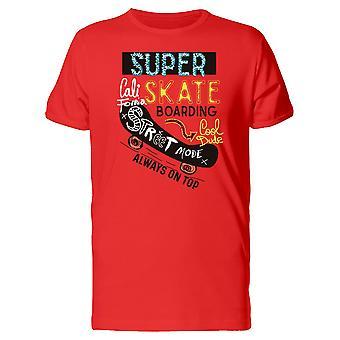 California Super Skateboarding Tee Men's -Image by Shutterstock