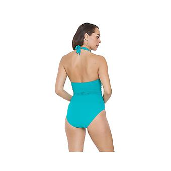 Seaspray SY006433A Women's Emerald Blue Solid Colour Costume One Piece Swimsuit