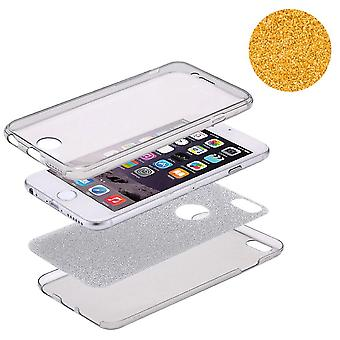 Crystal Case Hülle für Apple iPhone 5 / 5s / SE Glitzer Case Orange Full Body