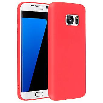 Forcell case for Samsung Galaxy S7 Edge, soft touch cover, silicone case - Red