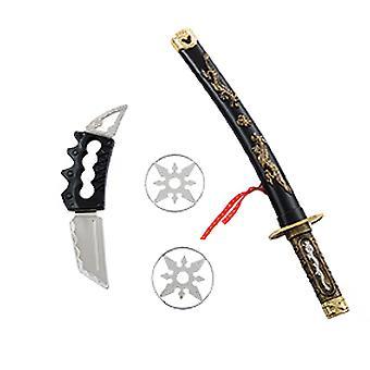 Ninja asettaa 4kpl miekka sivu veitsi heittotähdet lisävaruste Carnival 2