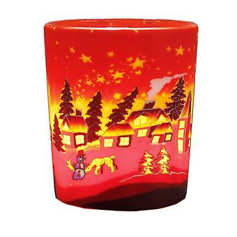 Kerzenfarm votief gloeiende glas, Winter Village