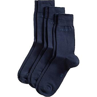 Esprit bloc couleur 3 Pack chaussettes - Marine Marine