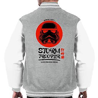 Originele Stormtrooper ruimte gelukskoekjes mannen Varsity Jacket