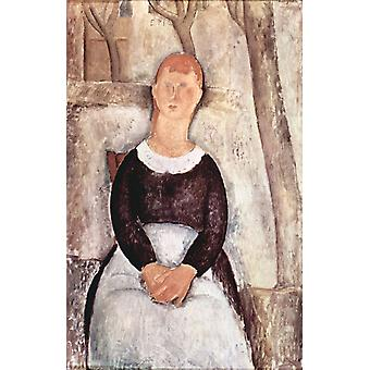La belle epiciere, Amedeo Modigliani, 40x60cm with tray