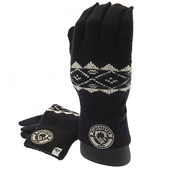 Manchester City FC Fairisle Adults Unisex Knitted Gloves