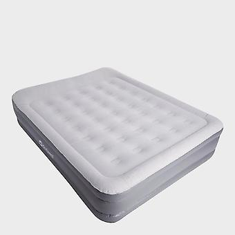 New Outwell Flock Superior Double Air Bed With Pump Grey