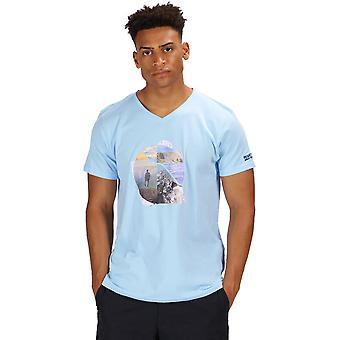 قميص تي الرسم عارضة القطن كولويفي Calton رجالي سباق القوارب
