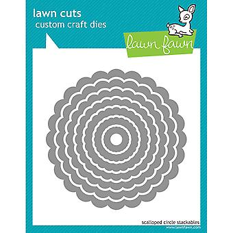 """Lawn Cuts Custom Craft Stackables Dies-Scallop Circles, .625"""" To 4"""""""