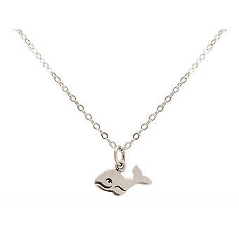 GEMSHINE Maritim Nautics ketting baby walvis gemaakt van 925 zilver, verguld of Rose