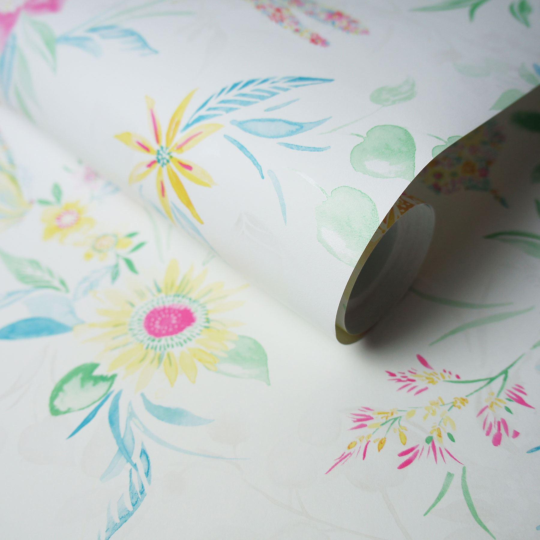 Watercolour Butterfly Wallpaper Flowers Floral Abstract Metallic