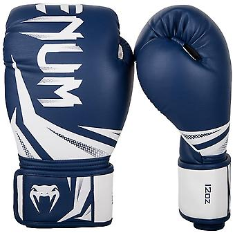 Venum Challenger 3.0 Hook & Loop Boxing Training Gloves - Navy/White