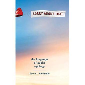 Mi dispiace: La lingua di scuse pubbliche
