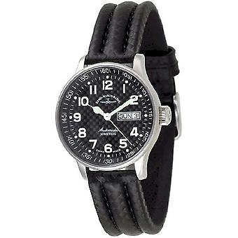 Zeno-watch mens watch medium size carbon 336DD-s1