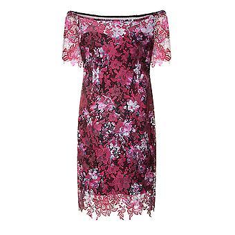 Kağıt Bebek Curvy Kadın / Bayan Blossom Baskı Bardot Bodycon Elbise