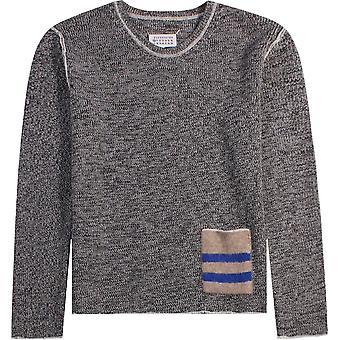 Maison Margiela Knitted Pocket Jumper Grey