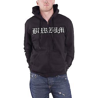 Burzum Hoodie Aske band logo Official Mens New Black Zipped