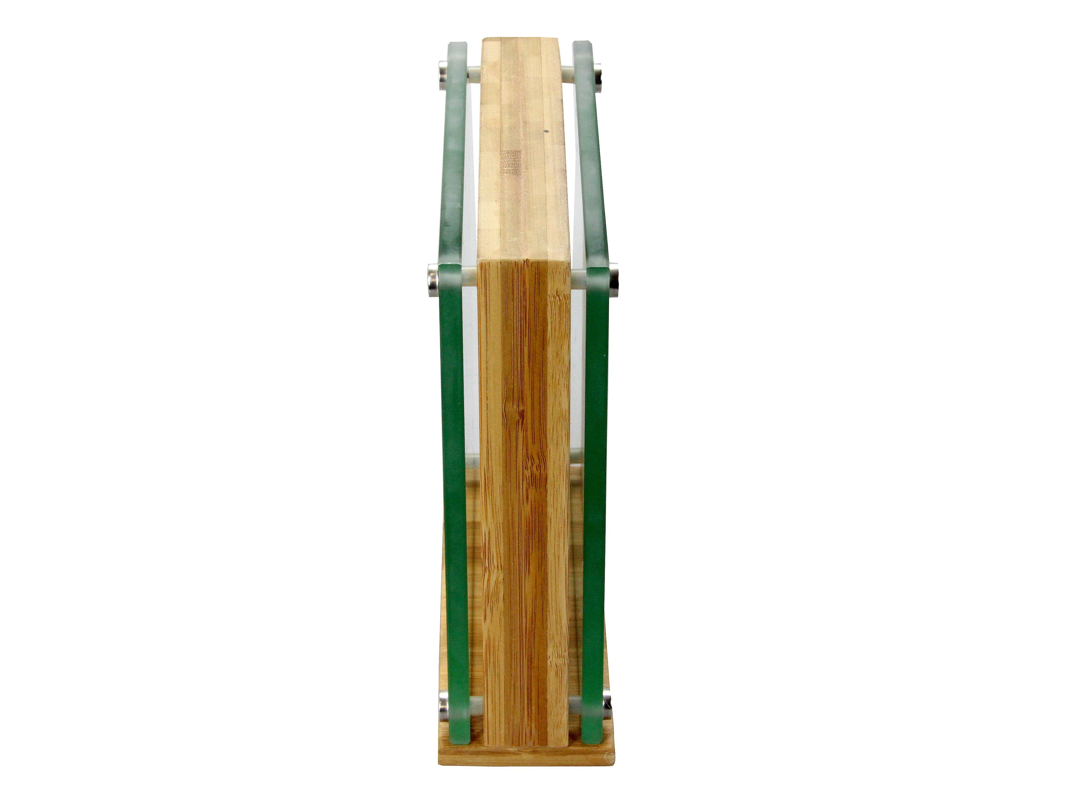 Woodquail Bamboo & Glass Magnetic Knife Block, Universal Knife Storage