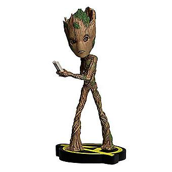 Marvel Groot Head Knocker-figura colecionável, 21 cm
