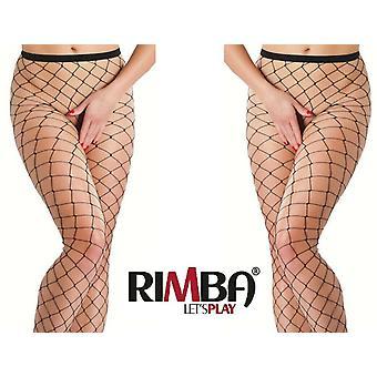 'Rimba Lingerie' Sexy Black Fishnet Tights (R1472)