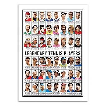 Art-Poster - Legendary Tennis Players - Olivier Bourdereau