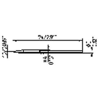 Ersa 212 CD LF Soldering tip Chisel-shaped Tip size 1 mm Content 1 pc(s)