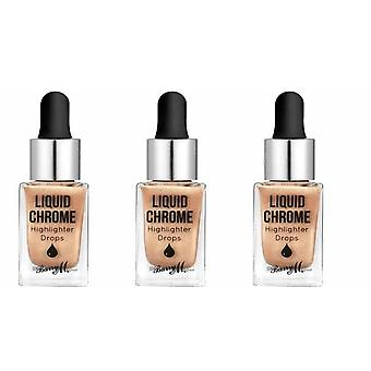 Barry M 3 X Barry M Liquid Chrome Highlighter Drops - Liquid Fortune