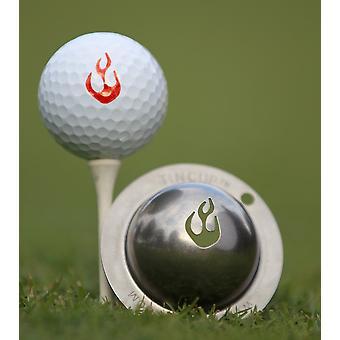 Tin Cup Golf Ball Marking System En Fuego