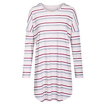 レーシュ 1193650-11874 女性's スマートカジュアル多色ストライプコットンナイトドレス