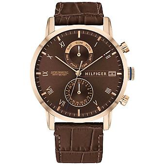 Tommy Hilfiger | Men's Brown Leather Strap | Brown Dial | 1710400 Watch