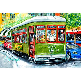 Carolines Treasures  MW1152PLMT Street Car Fabric Placemat