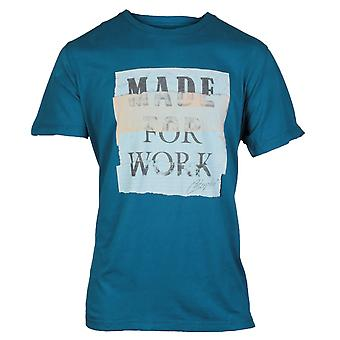 CAT Lifestyle Mens Tabloid Tee Blue