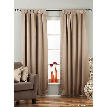 Brownish Gray Tab Top 90% blackout Curtain / Drape / Panel  - Piece