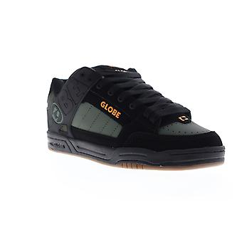 Globe Fusion Mens Black Nubuck & Synthetic Athletic Lace Up Skate Shoes
