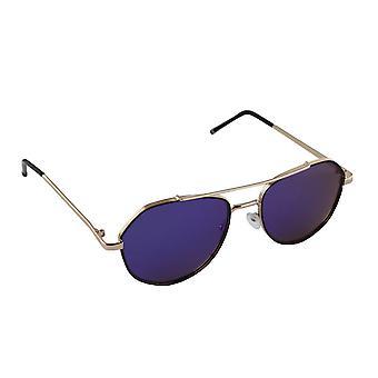 Zonnebril Heren en Zonnebrillen Dames Polaroid Piloot - Goud/Blauw/Paars met gratis brillenkokerS361_3
