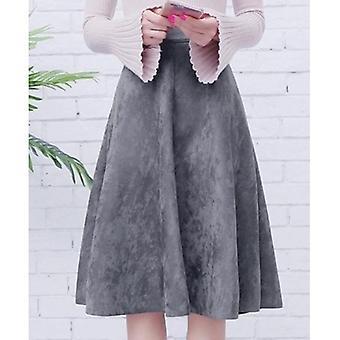 Pleated Ladies A Line Black Flare Skirt