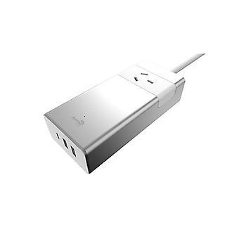 Aerocool ASA Aluminum PowerStrip USB Charging Port 5V/2.4A