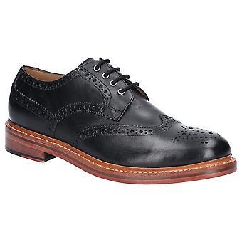 Cotswold mens Quenington lederen Lace up Brogue Oxford schoenen