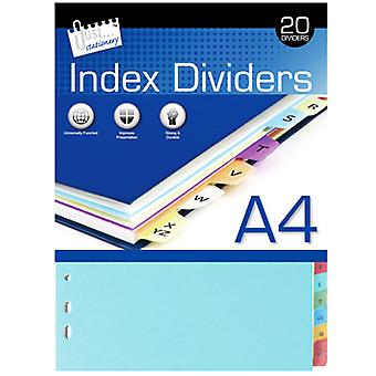 Just Stationery 20 A-Z A4 Paper Index Dividers