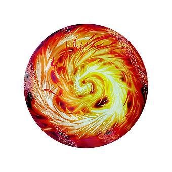 Grindstore Fireball Circular Glass Chopping Board
