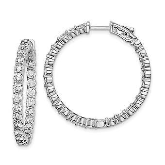 925 Sterling hopea kiillotettu turvallisuus lukko rhodium kullattu rhodium kullattu CZ Cubic Zirkonia Simuloitu Diamond saranoitu