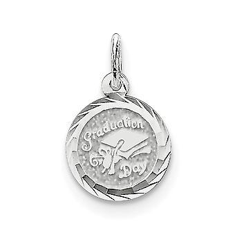 925 sterling sølv solid grave Bart eksamen dag Disc Charm-. 7 gram