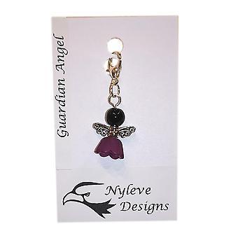 Handmade Clip-on Angel/Fairy Charm Black by Nyleve Designs