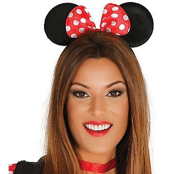 Womens ragazze tessuto Mouse orecchie fascia costume accessorio
