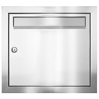 MOCAVI UP1 v2A stainless steel flush-mounted letterbox, brushed