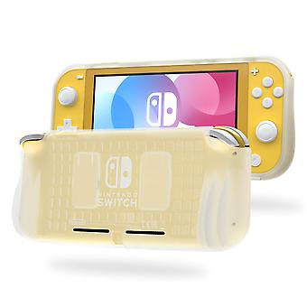 REYTID White TPU Protector Case with 2x Game Card Storage Slots and Hand Grips Compatible with Nintendo Switch Lite