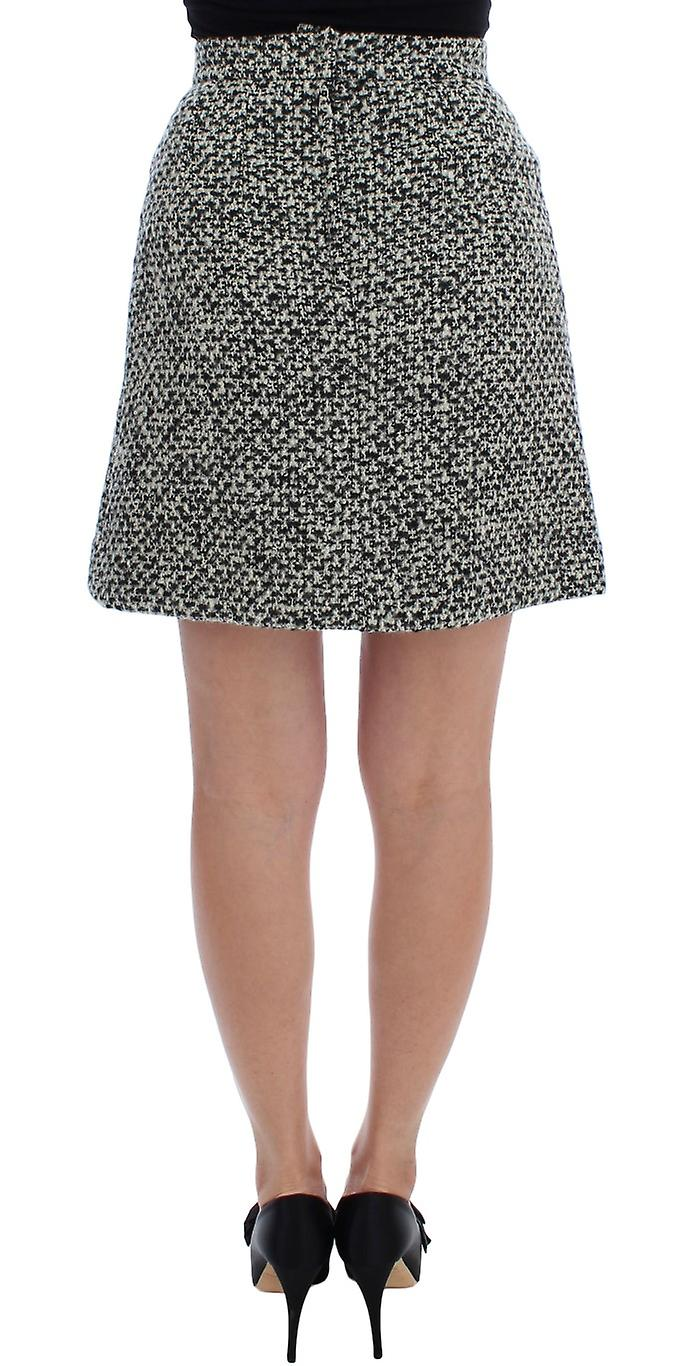 Gray Cashmere Bubble Above Knee Skirt
