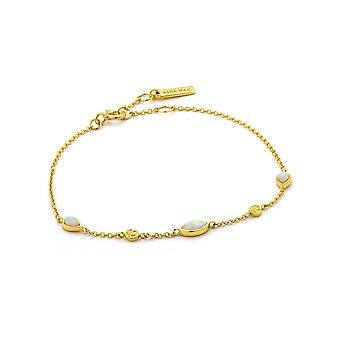 Ania Haie Sterling Silver Shiny Gold Plated Opal Colour Bracelet B014-02G